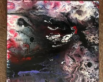 Falling, 11 x 14, Original Acrylic on Canvas, Signed