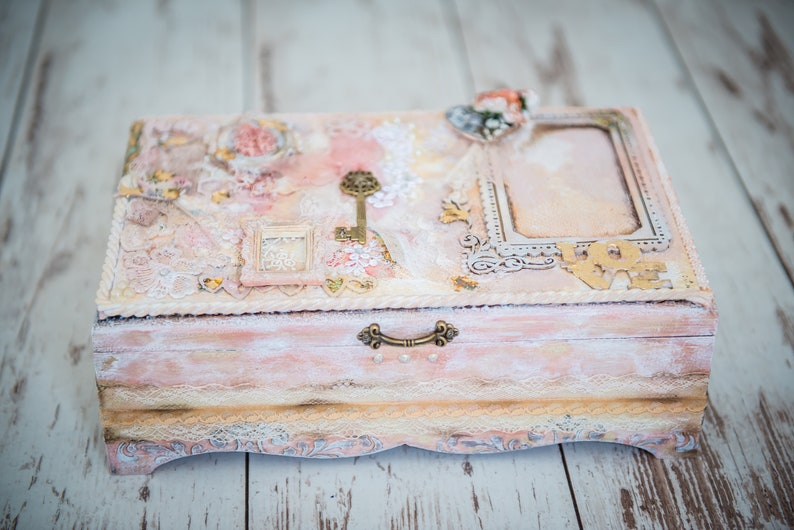Large Memory Box Shabby Chic Women Box Wedding Keepsake Box Large Shabby Chic Fairy Boxes Box With Lid Memory Large Box Girl Jewelry Box