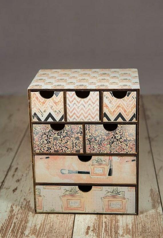 Makeup organizer drawers, makeup drawer storage, jewelry organizer, jewelry  drawer, bedroom vanity, daughter for mom, accessories box drawer