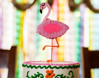 Flamingo Pinata Cake Topper, Flamingle Party, Tropical Birthday Party, Pinata, Bachelorette Party