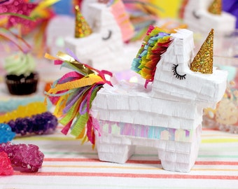 Mini Rainbow Unicorn Pinata (3), Rainbow Unicorn Party, Unicorn Party Favor, Unicorn Decorations, Unicorn Birthday, Bridesmaid Box, Set of 3