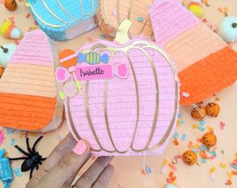 Halloween Pumpkin Mini Piñata Party Favor, Halloween Decoration, Pumpkin Gift Box, Boo Basket, Fall Decoration, Halloween Party, 1 PUMPKIN