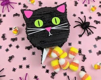 Halloween Mini Black Cat Pinata, Black Cat Party Favor, Halloween Decorations, Halloween Party, Halloween Treat Bag, Trick or Treat, Cat