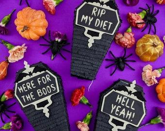 Mini Coffin Piñata Gift Box, Halloween Candy Gift Box, Halloween Decorations, Day of the Dead, Halloween Party, Dia de los Muertos, 1 PIÑATA