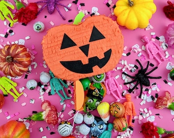 Mini Jack o' Latern Piñata, Mini Pumpkin Piñata, Halloween Party Favor, Halloween Party Decorations, Pumpkin Candy Favor, 1 PUMPKIN FAVOR