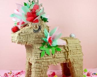 "Reindeer Pinata, 15"", Christmas Decoration, Holiday Party Piñata, Reindeer Decoration, Christmas Party, Christmas Wedding, 1 PINATA"