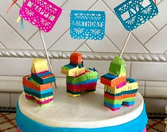 More Colours Mini Pinata Cake Topper