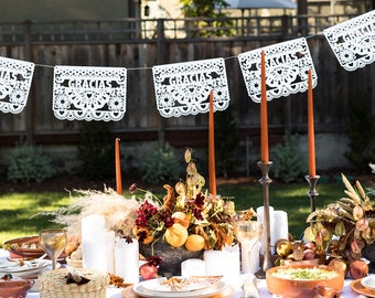 Thanksgiving Banner (1), Thanksgiving Decorations, Holiday Decorations, Papel Picado Banners, Thanksgiving Tablescape, Fiesta Holiday Ideas