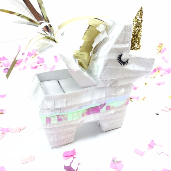 Unicorn Wedding Unicorn Party Mini Pi\u00f1atas Ring Bearer Bridesmaids Gift Listing for ONE Proposal Engagement Unicorn Pinata Ring Box