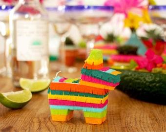 3 Mini Donkey Pinata Party Favors, Cinco de Mayo, Fiesta Decoration, Bridesmaid Proposals, Fiesta Wedding Favors, Mexican Wedding, Burro