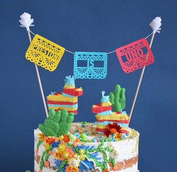 Phenomenal Papel Picado Cake Topper Fiesta Birthday Coco Birthday Cake Etsy Personalised Birthday Cards Beptaeletsinfo