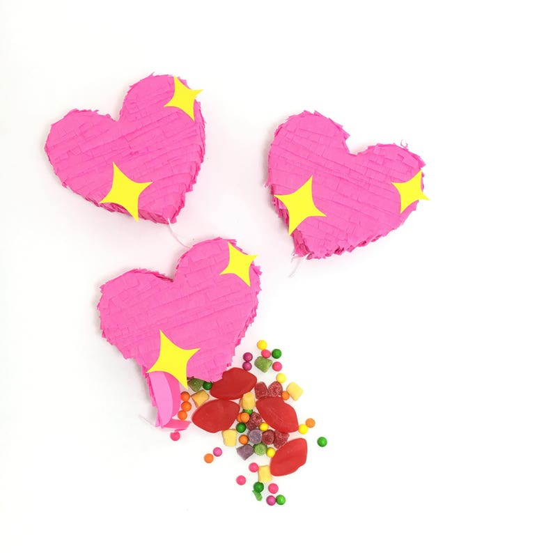 Heart Emoji Party Favors Mini Pinatas Mini Heart Piñata image 0