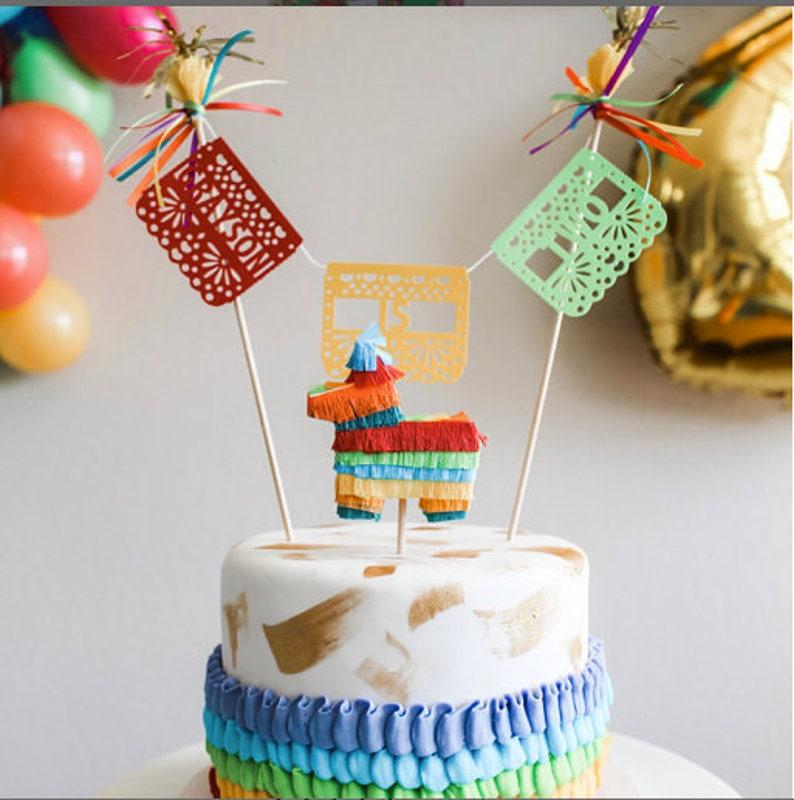 1x Mini Donkey Pinata Cake Topper Pinata Cake Topper Cinco image 0
