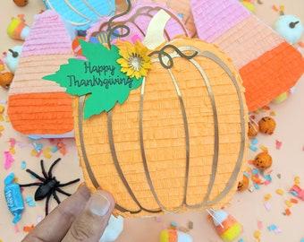 Thanksgiving Party Favor Piñata, Mini Piñata, Thanksgiving table setting, fall pumpkin, pumpkin decoration, halloween decorations, 1 PUMPKIN
