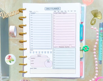 Happy Planner Daily Inserts Printable Classic Happy Planner Pages Made to Fit Erin Condren Planner Daily Plan Daily Agenda Instant Download.