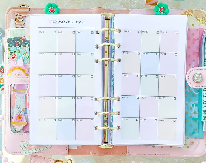 Habit Tracker Printable, Self Care Planner, personal size planner printable