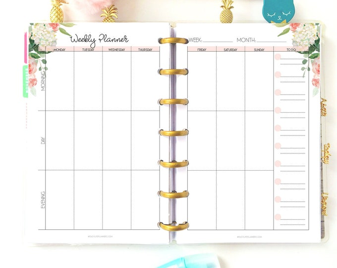Weekly Planner pages Mini Happy Planner Weekly Printable Inserts