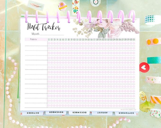 Habit tracker printable, Medication tracker, Big Happy Planner Inserts, Weight Loss Tracker