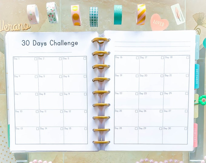 Happy Planner Habit Tracker Printable Inserts Habit Monthly Healthy Habit Tracker Daily Habits Planner Made to Fit Erin Condren Planner