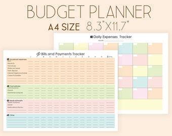 Budget Planner Printable, Expense Tracker, Bill Tracker, Bill Organizer, Financial Planner