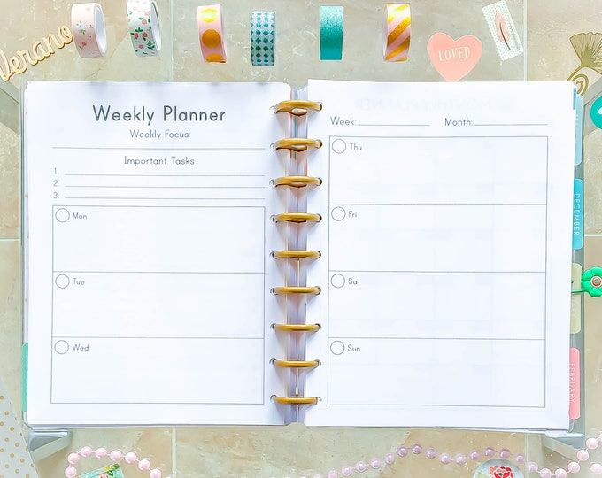 Happy Planner WEEKLY Inserts Printable Weekly Planner Inserts Mambi Planner Printable Planner 2020 Planner made to Fit Erin Condren