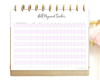Bill Tracker Printable, Bill Due Planner, Monthly budget, Finance Planner.