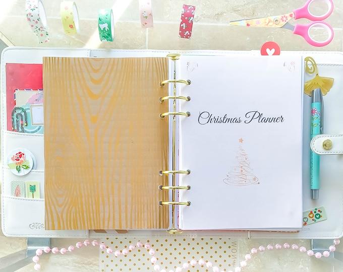Christmas Planner Printable, christmas organizer, A5 Filofax Insert, a5 planner refills