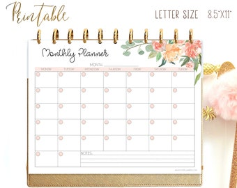 Monthly Planner Printable Kit, Big Happy Planner Inserts, Monthly Agenda,