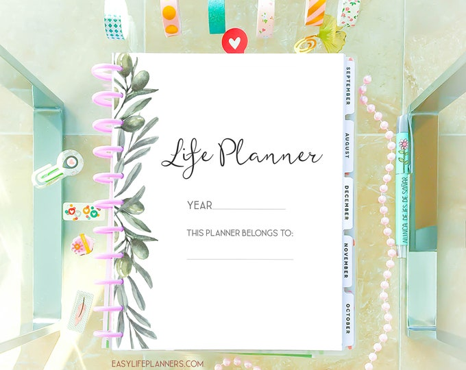 Life Planner 2020 Planner Printable Daily Planner Inserts, Big Happy Planner Inserts