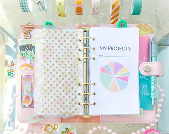 Project Planner Personal Filofax Work Printable Planner Goal Tracker Inserts Project Steps Tracker Filofax Inserts Instant Download PDF
