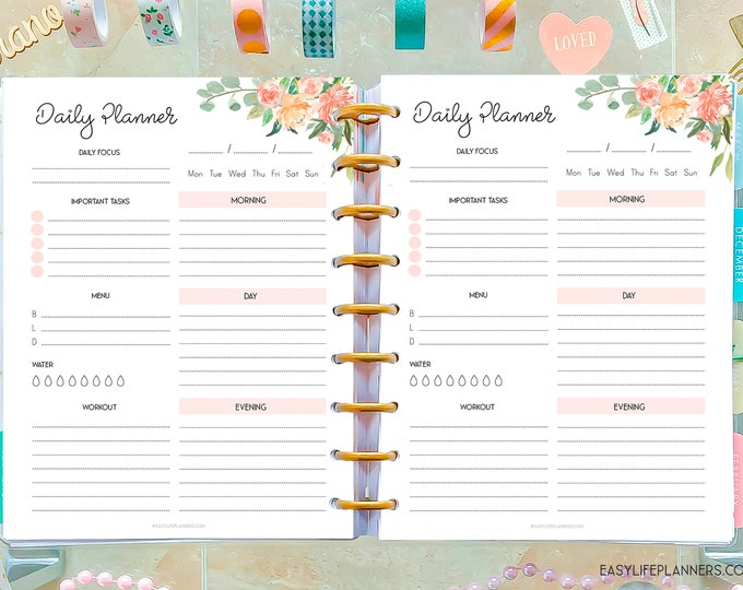 Daily Planner 2021 made to Fit Classic Happy Planner Inserts Printable, do1p