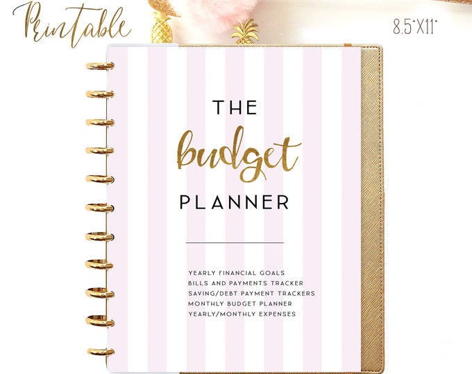 Budget Planner Printable, Financial Planner, Big Happy Planner Inserts, Budget Planner Pages