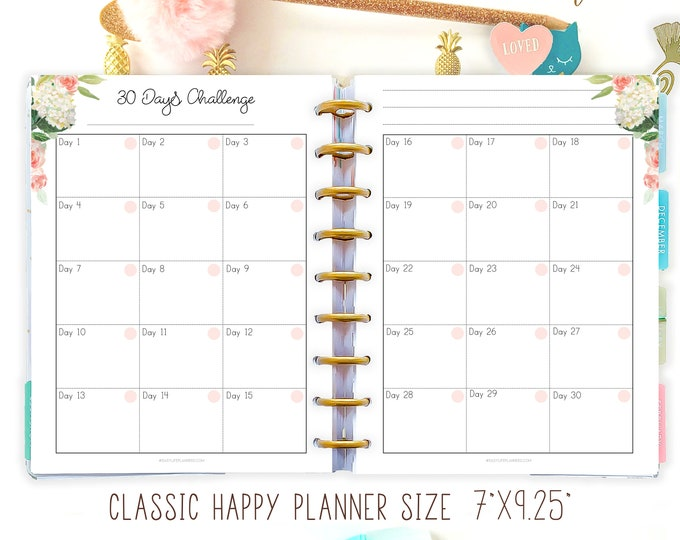 Habit Tracker, Routine Log, made to fit Happy Planner Printables