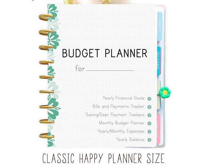 Budget Planner Printable Happy Planner Insert, Financial Binder, Financial goals
