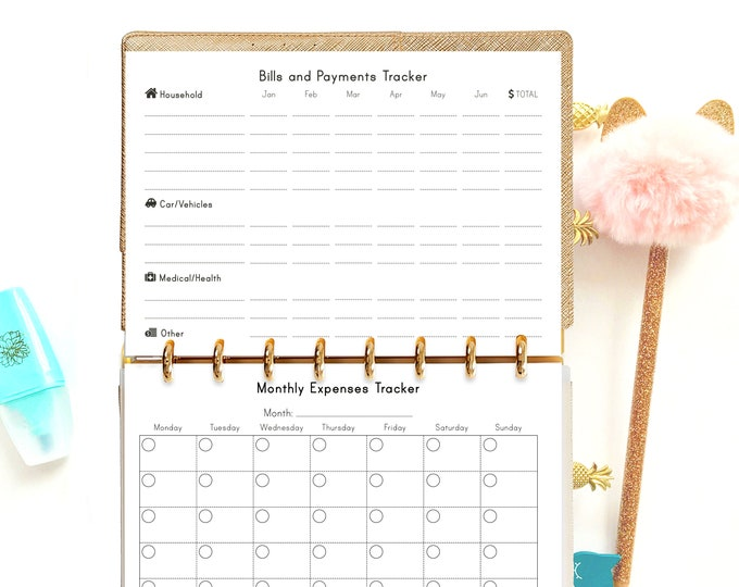 A5 Planner Inserts Budget Planner Filofax A5 Financial Planner Printable Finance Planner Budget printable Instant Download budget journal