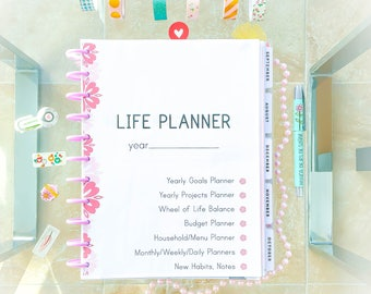 2018 Ultimate LIFE PLANNER KIt Planner Printable Big Happy Planner Inserts Organizer Daily Planner Instant Download mom life Letter Size