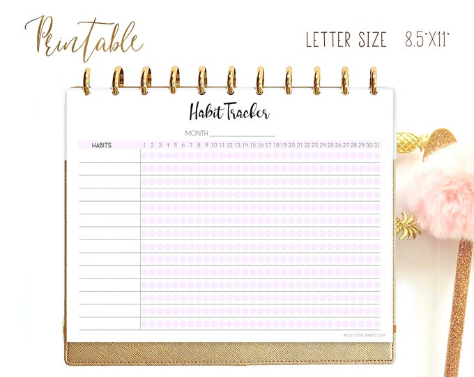Weight Loss Chart, Habit Tracker printable, Medication tracker, Big Happy Planner Inserts,