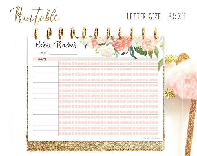 Workout log, Big Happy Planner Inserts Habit tracker printable, 30 Day Challenge, Weight Loss Tracker