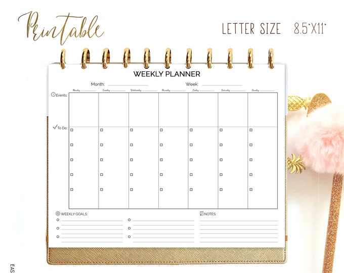 Weekly Planner Pages, Letter Size Planner Printable Wo1p, Big Happy Planner Inserts.