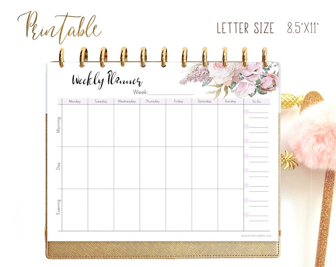 Weekly Planner Printable, Weekly Agenda, Cute planner,  Weekly Plan, Big Happy Planner Inserts,