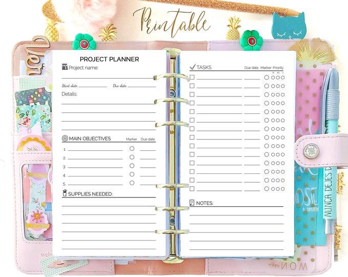 Productivity Planner, Filofax Refills, Printable Agenda