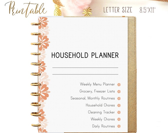 Household Planner Starter Kit Daily Routine, Home Management, Cleaning List Printable
