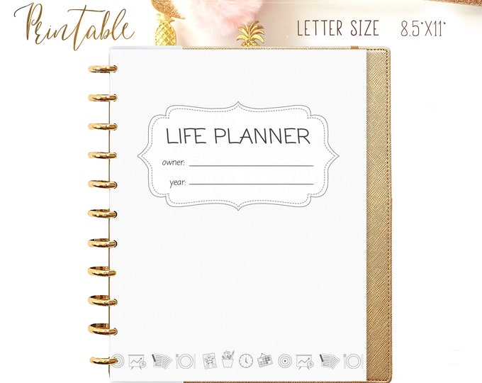 LIFE PLANNER Printable Planner Inserts for Big Happy Planner Inserts Daily Planner Binder 2020