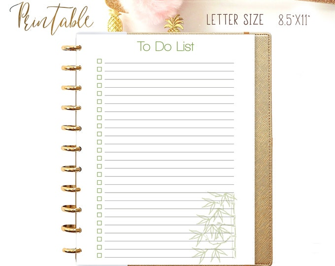 To Do List Printable, made to fit Big Happy Planner Inserts.