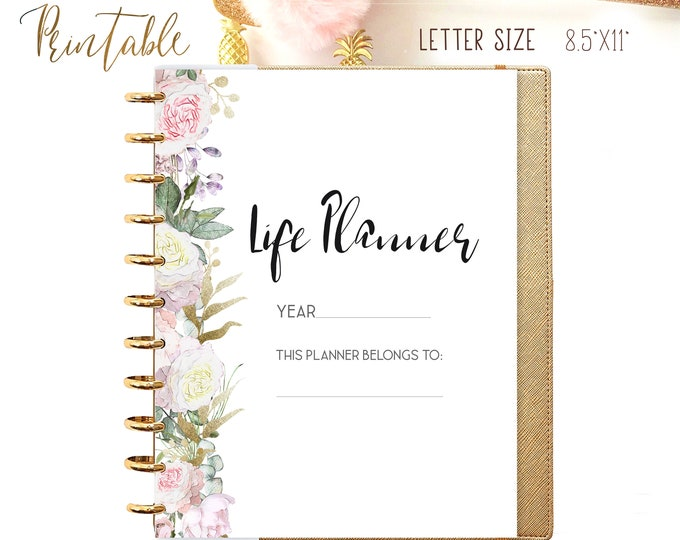 Life Planner Pages made to fit Big Happy Planner Inserts, Printable Daily Planner 2020
