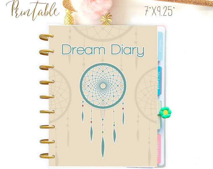 Happy Planner Inserts, Dream Diary,  Dream Journal Mambi Happy Planner Printable