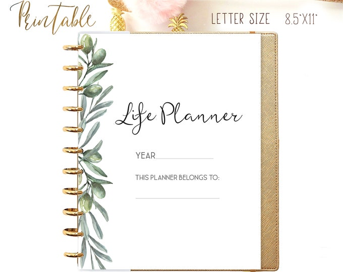 Life Binder Printable Daily Planner Inserts, Big Happy Planner Inserts