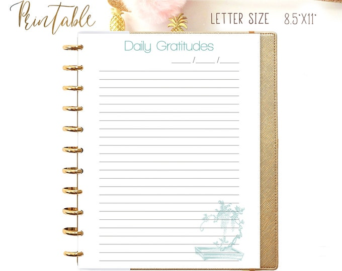 Daily Gratitudes made to fit Big Happy Planner Inserts Printable