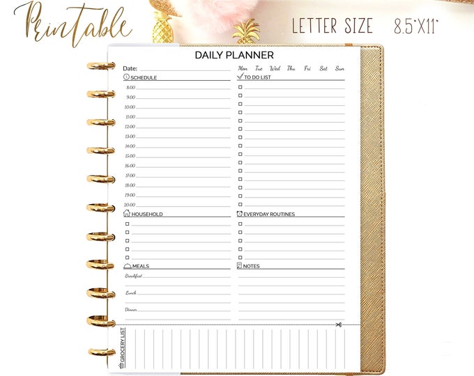Daily Planner Pages made to fit for Big Happy Planner Inserts, Do1P Printable