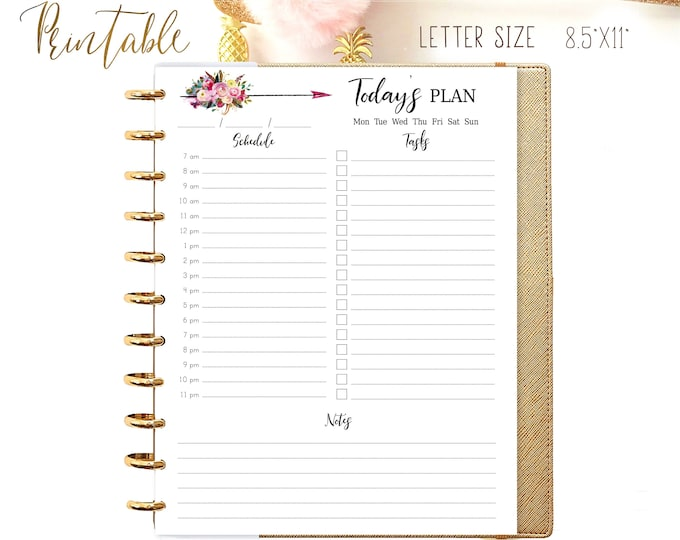Daily Planner 2021 Made to Fit Big Happy Planner Inserts Printable Daily Schedule